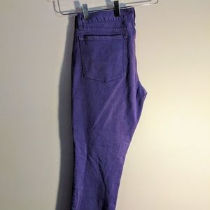 J. Crew Toothpick Purple Jean